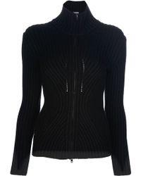 Jean Paul Gaultier Ribbed Sweatshirt black - Lyst