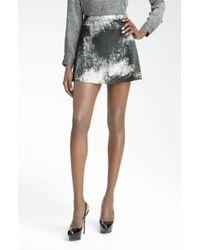 Kelly Wearstler Swagger Print Leather Skirt black - Lyst