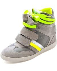 Serafini - Manhattan Flouro Wedge Sneakers - Lyst