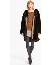 Thakoon Addition Hooded Faux Fur Coat - Lyst
