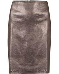 AllSaints Metal Pencil Skirt gold - Lyst