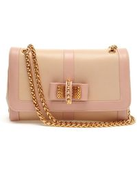 Christian Louboutin Sweet Charity Grained Leather Shoulder Bag pink - Lyst