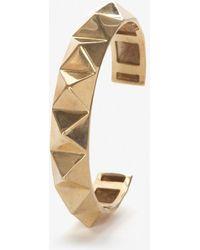 Jennifer Fisher  Gold Pyramid Thin Cuff - Lyst