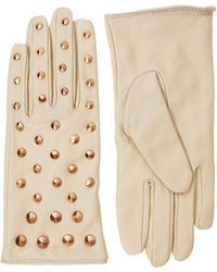 Love Asos Leather All Over Stud Gs beige - Lyst