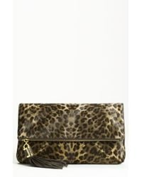 Michael Kors Tonne Large Calf Hair Clutch - Lyst