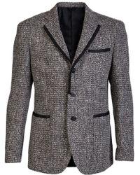 Tonello Tweed Blazer brown - Lyst