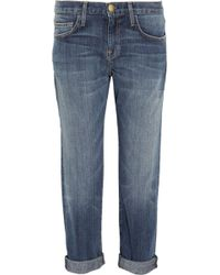 Current/Elliott The Boyfriend Cropped Mid-Rise Jeans - Lyst
