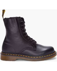 Dr. Martens Black Leather Brady Winter Boots - Lyst