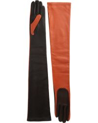 Givenchy Whipstitched Long Gloves - Lyst