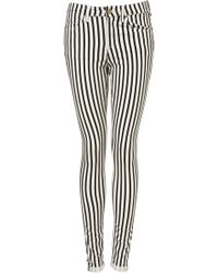 Moto Stripe Leigh Jeans - Lyst