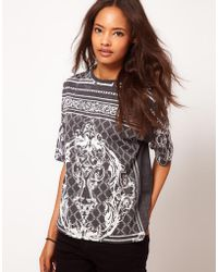 ASOS Collection  T-Shirt with Oversize Baroque Print - Lyst