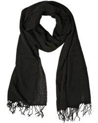 Dolce & Gabbana Cashmere Knit Scarf black - Lyst