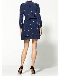 Juicy Couture Mod Leaf Print Silk Dress - Lyst