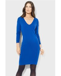 Lauren by Ralph Lauren Merino Wool Dress - Lyst