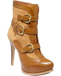 Guess Adelle Platform Booties - Lyst