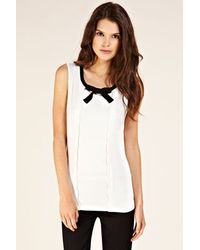Oasis Bow Scallop Shell Ponte Top white - Lyst