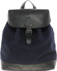 ASOS - Felt Backpack with Leather Trim - Lyst