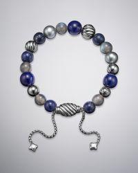 David Yurman - Spiritual Bead Bracelet Lapis - Lyst