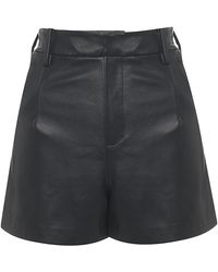 House of Holland - Leather Shorts - Lyst