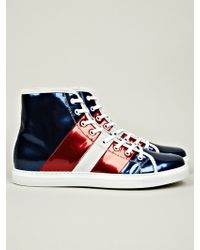 Marc Jacobs Mens High Top Sneaker blue - Lyst