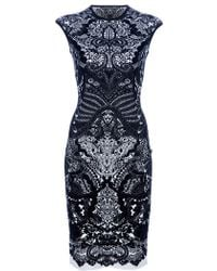 Alexander McQueen Fitted Paisley Dress - Lyst