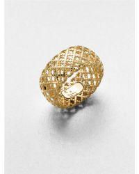 Gucci Diamantissima 18K Yellow Gold Band Ring gold - Lyst