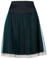 Hoss Intropia A Line Skirt green - Lyst