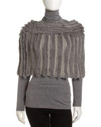 Jocelyn - Crochetrabbit Fur Capelet Gray - Lyst