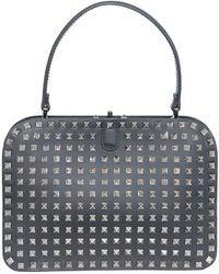 Valentino Noir Rigid Bag gray - Lyst