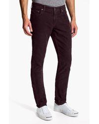 J Brand Kane Slim Straight Leg Corduroy Pants - Lyst