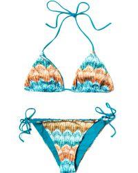 Missoni Mare Zig Zag Print Bikini - Lyst