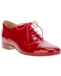 Labour Of Love Patent Tap Shoe red - Lyst