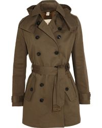 Burberry Brit Midlength Cottontwill Trench Coat - Lyst