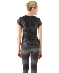 Charlotte Ronson - Lambskin Leather Top - Lyst