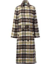Dickins & Jones - Ladies Belted Check Coat - Lyst