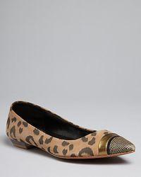 Rebecca Taylor - Lola Suede Leopardprint Flat - Lyst