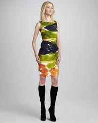Alice + Olivia Valerie Printed Folded Dress - Lyst