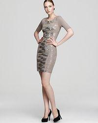 BCBGMAXAZRIA Shift Dress Lehana Scatter Sequin - Lyst
