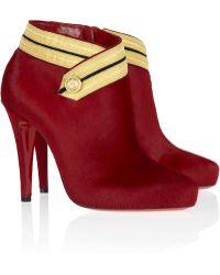 Christian Louboutin Marychal 100 Calf Hair Ankle Boots - Lyst