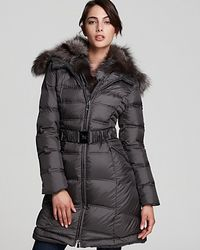 Dawn Levy Cat Belted Down Coat - Lyst