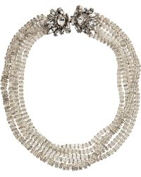Erickson Beamon Crystal Multistrand Square Rondelle Necklace - Lyst