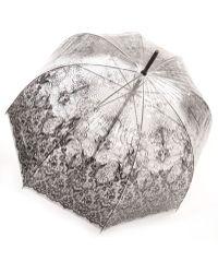 Jean Paul Gaultier Transparent Lace Print Umbrella transparent - Lyst