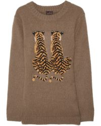 Mulberry - Tiger Intarsia Angora Blend Sweater - Lyst