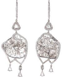Sharon Khazzam - Grey Diamond Slice Valencia Earrings - Lyst