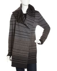 Vince Striped Blanket Cardigan - Lyst