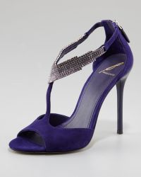 B Brian Atwood - Loreto Beaded Suede Sandal - Lyst