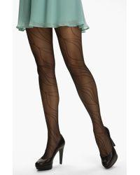 Calvin Klein Linear Spiral Control Top Pantyhose - Lyst
