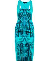 Holly Fulton - Jane Printed Silk Dress - Lyst