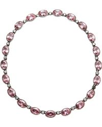 Olivia Collings - Pink Paste Riviera Necklace - Lyst