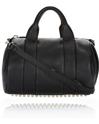 Alexander Wang Rocco In Black Pebble Lamb With Rosegold black - Lyst